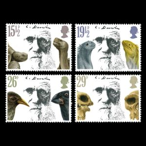 Charles Darwin on stamps of UK 1982