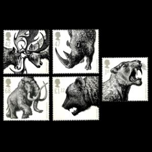 Ice age animals on stamp of UK 2006
