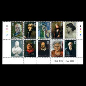 Charles Darwin on stamps of UK 2006