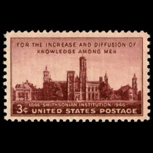 Smithsonian Institution on stamp of USA 1946