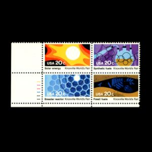 fossil on stamps of USA 1982