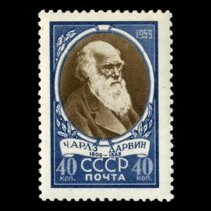 Charles Darwin on stamps of USSR 1959