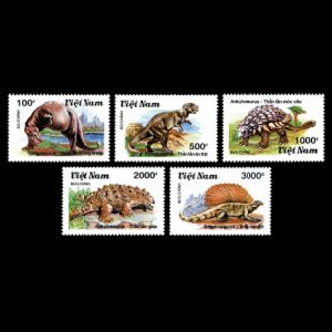 prehistoric animals, dinosaurs on stamps of Vietnam 1990