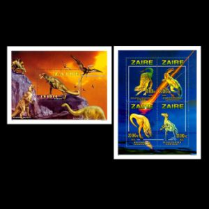 Dinosaurs on stamps of Zaire 1996