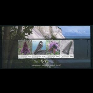 Mosasaur teeth on Danish Nature stamp of Denmark 2009