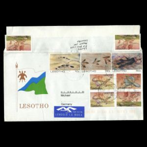 lesotho_1984-1992_env_used stamps