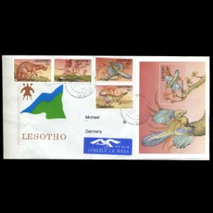 lesotho_1992_env_used stamps