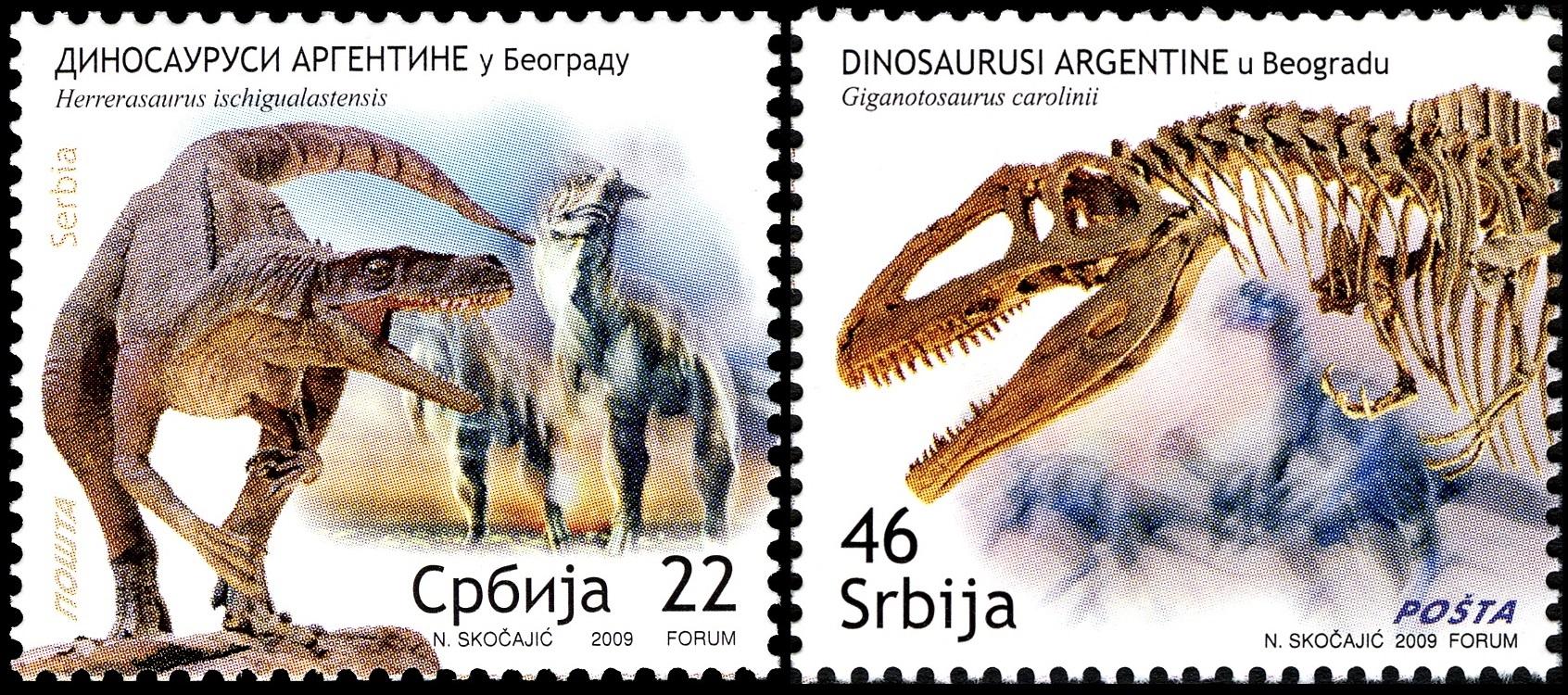 Paleophilatelie: Paläontologie und Philatelie  Serbia_2009