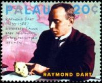Raymod Dart on stamp