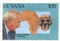 Louis Leakey on stamp