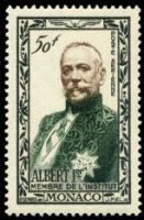 Prince Albert I of Monaco on stamp from 1949