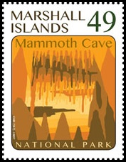 Mammoth Cave  on stamp of Marshall Islands 2017