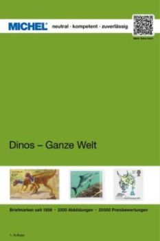 "Michel ""Dinos - whole world"" catalog 2019. Approx. 2500 colour illustrations and about 20 000 price quotations at approx. 328 paperback pages with novelties up to MICHEL Rundschau 1/2019 have been catalogued in this edition"