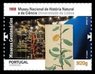 Natural History museum of Lisbon on stamp of Portugal 2019