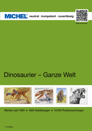 MICHEL Dinos - whole world catalog - contain technical details and prices of stamps with dinosaurs and other prehistoric animals
