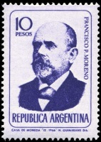 Francisco Pascasio Moreno on stamp of Argentina 1966