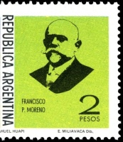 Francisco Pascasio Moreno on stamp of Argentina 1975