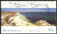 Shark Bay on stamp of Australia 1993