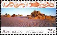 Willandra Lakes on stamp of Australia 1996