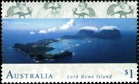 Lord Howe Island on stamp of Australia 1996