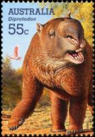 Diprotodon on stamp of Australia 2008