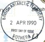 Example of postmark for FDC cover
