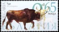 The aurochs (Bos primigenius) on extinct animal stamps of Bulgaria 2018