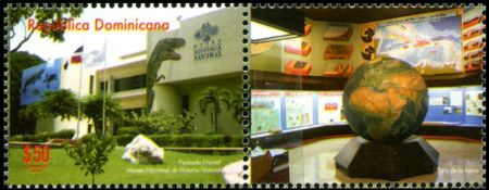 The building of Natural History Museum of the Dominican Republic on  						International Museum Day stamp of the Dominican Republic from 2014