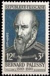 Bernard Palissy on stamp of France 1957