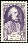 Georges Buffon on stamp of France 1949