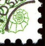 Ammonite on Zodiac stamp of France 1977