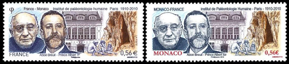 Institute of Human Paleontology on joint issue France and Monaco