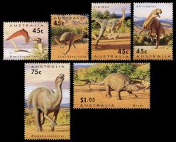 Dinosaur stamps of Australia 1993