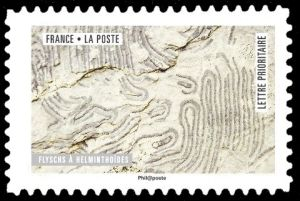 Helminthoides Flysch on stamp of France 2018