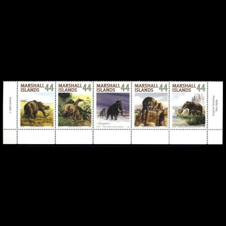 Prehistoric animals on stamps of Marshall Islands 2009