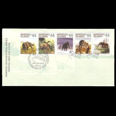 Prehistoric animals on FDC of Marshall Islands 2009