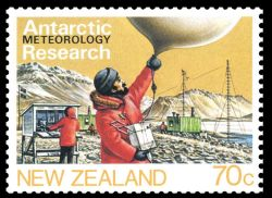 Meteorological Research on stamp of New Zealand 1984