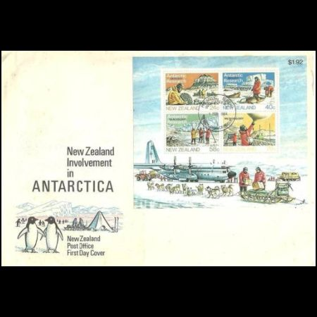 Plant Fossil on Antarctic Research FDC of New Zealand 1984