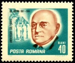 Dinotherium giganteum on stamp of Romania 1967