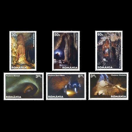caves of Romania on stamps from 2011