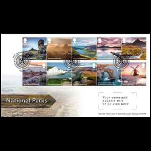 National Parks on FDC of UK 2021