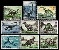Dinosaurs and other prehistoric animals on stamps of San Marino 1965