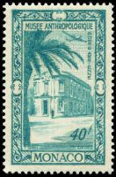 Antropology museum on stamp of Monaco 1949