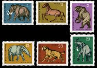 Prehistoric animals on stamps of Bulgaria 1971