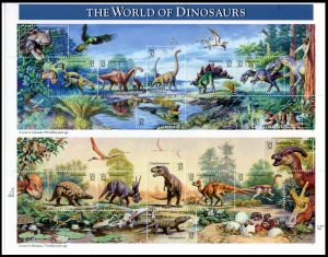 The world of dinosaurs on stamps of USA 1997