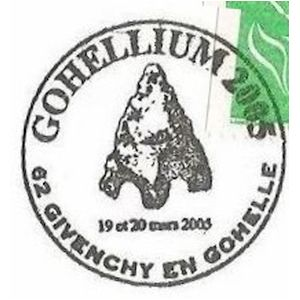 Prehistoric animals on commemorative postmark of France 2003