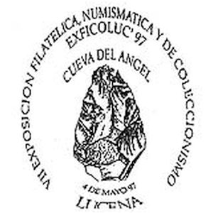 Flint tool on commemorative postmark of Spain 1997
