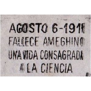 Death anniversary of famous paleontologist Florentino Ameghino on postmark of Argentina 1961