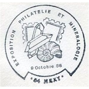 Ammonite on commemorative postmark of France 1988