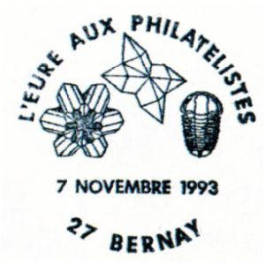 Trilobite on commemorative postmark of France 1993